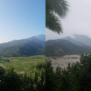Hanalei River Valley Before and After